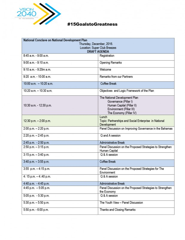 AGENDA for National Conclave