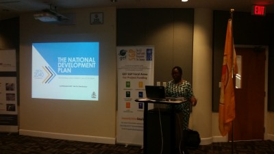 The National Development Plan presenting at the Inter-American Development Bank Civil Society event.