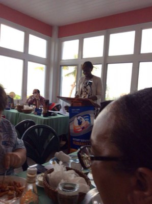 NDP presents to Rotary Club