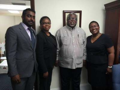 NDP Team meets with Sir Michael Barnett former Chief Justice