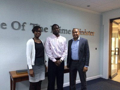 NDP team members met with researcher, Mr. Demeatrus Emmanuel