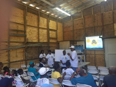 Vision Session in the Saxson Junkanoo Shack